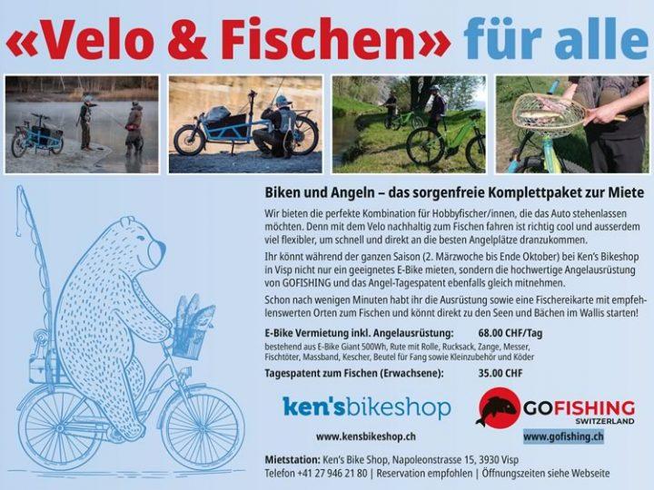 Biken und Angeln – das sorgenfreie Komplettpaket zur Miete in Ken's Bike Shop